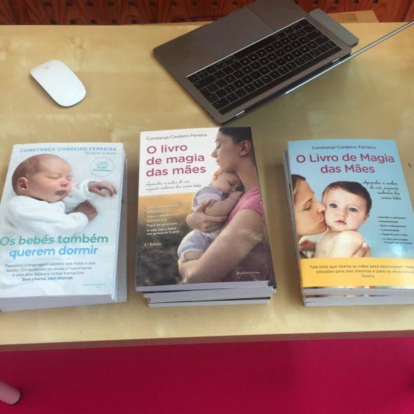 """Livros """"Os Bebés Também Querem Dormir"""" e """"O Livro de Magia das Mães"""""""